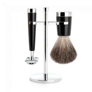 Ce set de rasage traditionnel est idéal pour prendre soin de la peau des hommes en utilisant un bel objet d'un design épuré et élégant !
