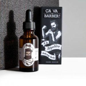 Hydratez votre peau et domptez vos poils avec l'huile pour barbe hydratante et revitalisante de l'artisan lyonnais Ça va barber !